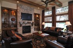 stone fireplaces with built ins | stone fireplaces tv built ins - Google Search | New House ideas