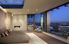 Modern Pad in Los Angeles North Majestic Skyline Views - Best House Decoration Modern pad in Los Angeles north majestic skyline views # meier & # sweltreisen The Basic Facts Of Be. Luxury Homes Interior, Luxury Apartments, Interior And Exterior, Style At Home, Home Decor Bedroom, Modern Bedroom, Pose Parquet, Minimalist Kitchen, Dream Rooms
