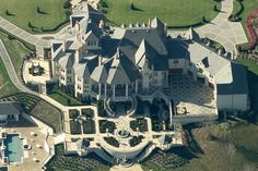 Updated Bird's Eye View Of 40,000 Square Foot Pennsylvania Mega Mansion