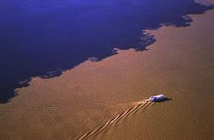 Where the rivers Rio Negro and Solimões meet - Brasil