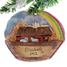 Noah's Ark Christmas Ornament  personalized by Christmaskeeper, $13.95