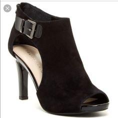 NEW FRANCO SARTO cutout bootie size 10 NEW beautiful FRANCO SARTO Lorea black suede Cutout Bootie size 10. Franco Sarto Shoes Heels