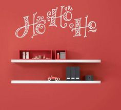 Ho Ho Ho Wall Decal - beautiful holiday decor www.TradingPhrases.com