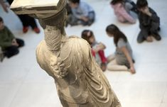Deatails on Caryatids, Acropolis Museum, Athens. Acropolis, Ancient Greek Art, Southern Europe, Archaeological Site, Art History, Culture, Statue, Museums, Image
