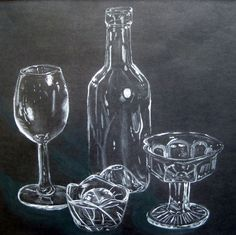charcoal drawings on colored paper | Zoe: Still Life charcoal