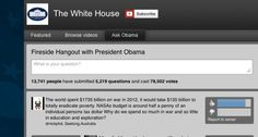 President Obama will answer questions during a Google+ hangout today