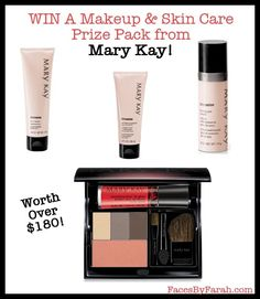 WIN A Makeup & Skin Care Prize Pack   from Mary Kay Worth Over $180! Skin Makeup, Mary Kay, Giveaways, Blush, Faces, Make Up, Skin Care, Beauty, Blushes