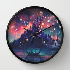 I think I would like this more than em.  The Lights Wall Clock by Alice X. Zhang - $30.00