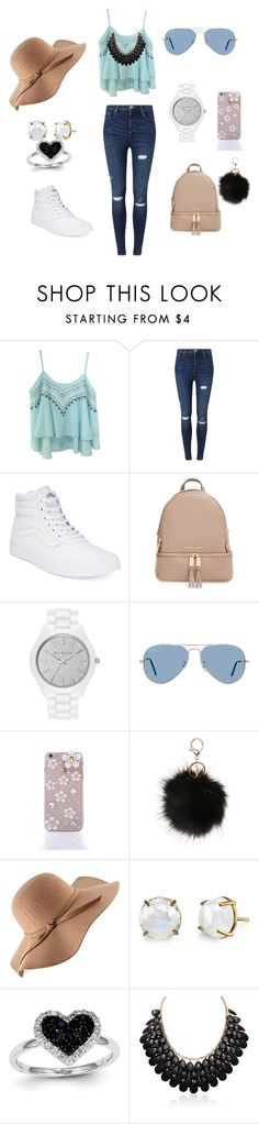 """School"" by manarn5 on Polyvore featuring Miss Selfridge, Vans, MICHAEL Michael Kors, Ray-Ban and Kevin Jewelers"