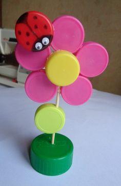 Fleur en bouchons - DIY récup