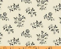 Items similar to Sylvie - Mono Floral from Windham Fabrics on Etsy Mono Floral, Bell Design, Windham Fabrics, Embroidery Transfers, Vintage Embroidery, Cotton Fabric, Quilts, Patterns, Etsy