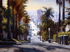 Whitly Avenue Hollywood John Comer Canvas Giclee