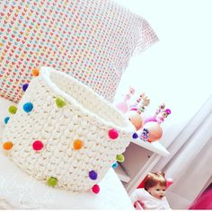 Crochet and Knitting Crochet Braid Pattern, Crochet Shell Stitch, Crochet Basket Pattern, Crochet Stitches, Crochet Patterns, Crochet Baby Hats, Love Crochet, Crochet For Beginners Blanket, Crochet Circles