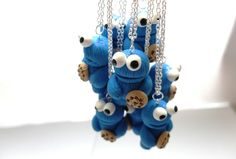 Cookie monster necklace - zwergplumploris - Kettingen