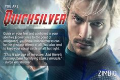 I'm Quicksilver! Which 'Avengers: Age of Ultron' character are you?null - Quiz