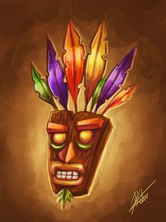 Aku Aku, Crash Bandicoot mask!