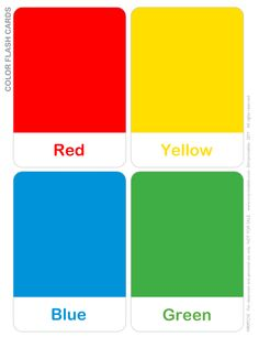 Fullmer's Kinders: Shape and Color Flash Cards Color Activities For Toddlers, Preschool Colors, Teaching Colors, Preschool Learning Activities, Color Flashcards, Flashcards For Kids, Toddler Color Learning, Kids Learning, Color Montessori