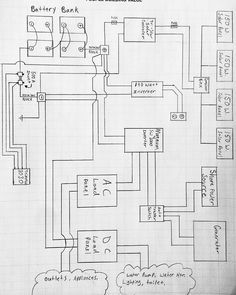 Wiring Diagram For S Plan Heating System Push To Talk Switch Campervan 12v Electrical Installation And All Not Enough Motivation Do Real Bus Work So I Got Our Drawn Up