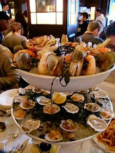 Balthazar, NYC,,, seafood tower