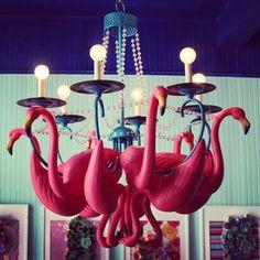 best picture yet - flamingo chandelier
