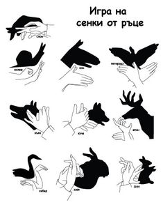 Shadow ones, shadow play, shadow art, shadow puppets with hands, puppets for Puppets For Kids, Hand Puppets, Shadow Art, Shadow Play, Shadow Puppets With Hands, Hand Shadows, Schrift Design, Activities For Kids, Crafts For Kids