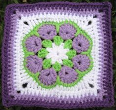 Crochet square- and I love the colors!