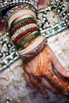 Bride detail wedding henna and jewelry