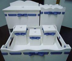 Kit higiene 4 peças!  Apenas 180,00 Corre logo e encomende o seu! Whats: (75) 98311-1291  #mdf #m - charmesdaana