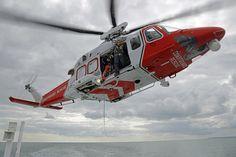 Coastguard Rescue AgustaWestland AW139 (G-SARD) operating off the Isle of Wight