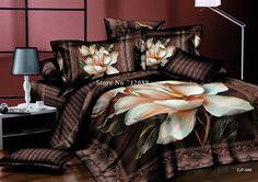 Wholesale,100% cotton bed linens 3D 4pcs magnolia grandiflora oil painting quilt/duvet covers full/queen comforter bedding sets $539.99