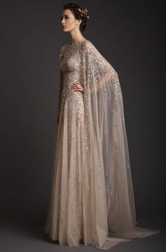 Unusual, detailed wedding dress