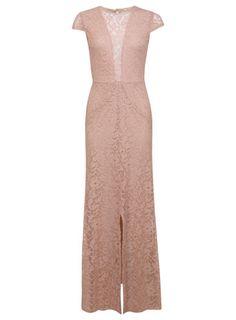elegant and beautiful lace maxi dress