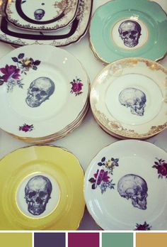 OMG!!!! I would absolutely buy this but when I'm 40 or 50 will I really want skulls on my plates? :-/