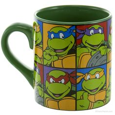 Teenage Mutant Ninja Turtles Grid Coffee Cup- Christmas for Jared- yes I know it's not Christmas time!!