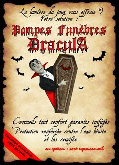 affiche dracula pf Menu Halloween, Halloween Potions, Halloween 2017, Halloween Cards, Happy Halloween, Halloween Decorations, Deco Harry Potter, Harry Potter Theme, Anniversaire Harry Potter