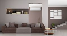 Get affordable heating & air conditioning repair services in Lakeville, MA by calling Cavicchi Heating and Air Conditioning at Brown Sofa, Brown Walls, Beige Walls, Brown Furniture Decor, Furniture Design, Wall Color Combination, Interior Design History, Brown Couch Living Room, Small Master Bedroom