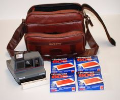 POLAROID IMPULSE INSTANT CAMERA, CASE AND 4 PACKS OF 600 FILM -BUNDLE - VINTAGE