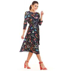 Dresses For Work, Dresses With Sleeves, Cold Shoulder Dress, Long Sleeve, Floral, Casual, Products, Fashion, Moda