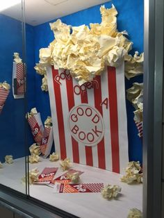 """Easy to make and fun tweak of someone else's idea. Love the buttered popcorn look. When scrunching the paper for the kernels, make a center """"stem"""" and crunch the paper around it for a more authentic look!"""