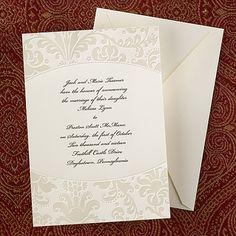 Pearl Damask Invitation - Wedding Invitation Ideas - Wedding Invites - Wedding Invitations - Create a FREE Proof Online - #weddings #wedding #invitations