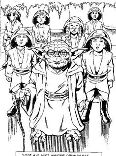 coloring page Star wars Attack of the Clones Kids-n-Fun