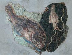 Mosaico con scena marina (fine II-inizio I sec.a.C.) da via Panisperma - Sala Colonne - Centrale Montemartini - Roma