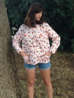 Vintage Shirt.Shirt.Shirts.Blouses.Tops.Size S-M by shpirulina