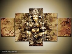 5 Panel print Abstract Printed Hotoke Buddhism Buddha Oil Painting Picture Cuadros Decor Buda Canvas Art For Bed Room framed ** Read more details by clicking on the image. #HomeDecor