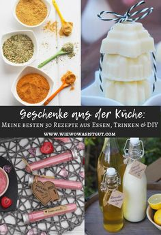 Geschenke aus der Küche – meine besten Rezepte {DIY / Essen / Trinken Gifts from the kitchen are important not only at Christmas and Easter, [. Recipe 30, My Best Recipe, Kitchen Gifts, Diy Kitchen, Kitchen Recipes, Comida Diy, Christmas Jam, Homemade Liquor, Diy Cadeau
