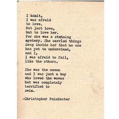 Their tears were their love poem #46 written by Christopher Poindexter