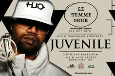 Juvenile Hosts and Perfoms at Highline Ballroom on October 10th