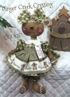 Primitive NEW Raggedy Gingerbread Doll by GingerCreekCrossing