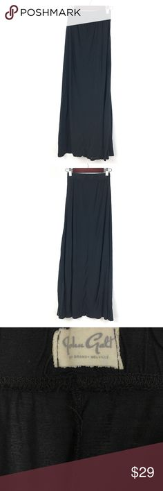 "John Galt Brandy Melville Black Maxi Skirt O/S 602 John Galt Brandy Melville One Size Fits Most Black Maxi Skirt 602  Measurements:  Waist:  11""  Flat Across Length:  38"" Long  In good preowned condition with no known flaws and light overall wear. Brandy Melville Skirts Maxi"