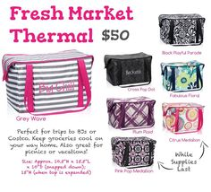 Fresh Market thermal from Thirty One Gifts Spring 2015 Prints -Shop  https://www.mythirtyone.com/1859759